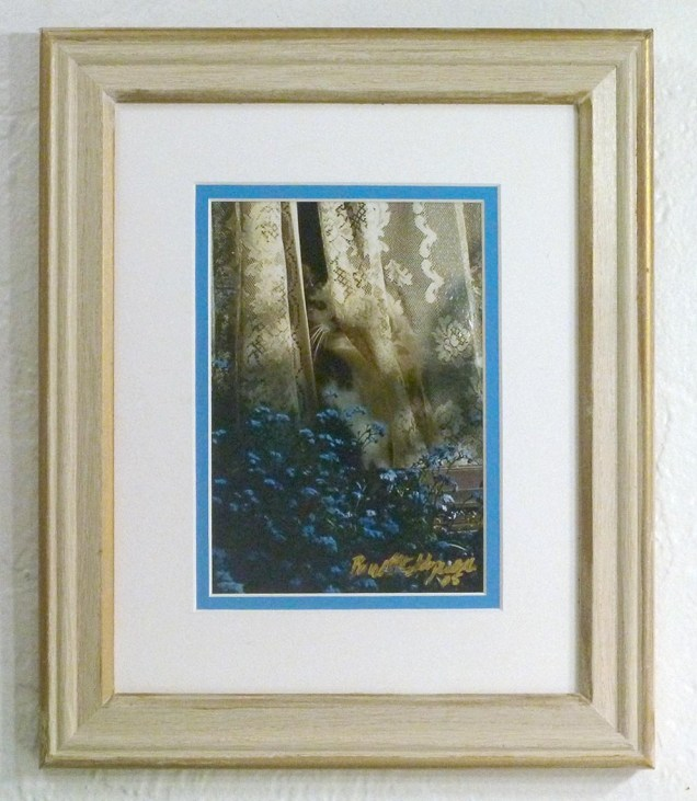 """Sophie Keeps an Eye on Things"", framed photo print."