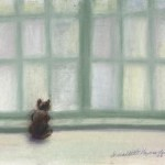 Winter Window, pastel, 8″ x 8″, 2002 © B.E. Kazmarski