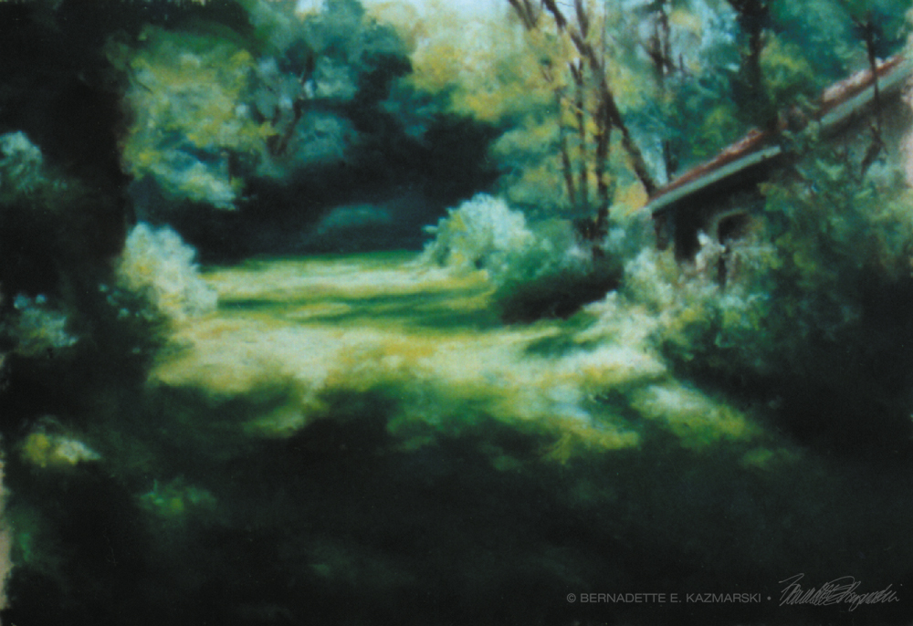 """Into the Woods at Frankfort Springs"", the image for my first solo exhibit."