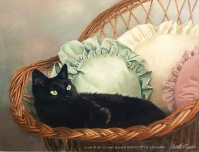 """""""Samantha"""", pastel, 23"""" x 19"""", 1994 © Bernadette E. Kazmarski"""