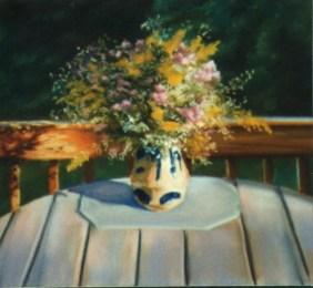 "Autumn Wildflower Harvest, 10"" x 12"", pastel, 1996 © Bernadette E. Kazmarski"