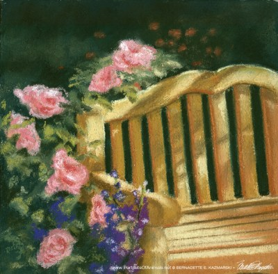 The Perfect Place, 10 x 10, pastel, 1995 © Bernadette E. Kazmarski