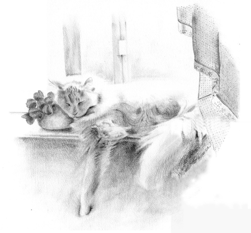 "Sleeping Beauty, pencil, 1987, 18"" x 16"" © Bernadette E. Kazmarski"