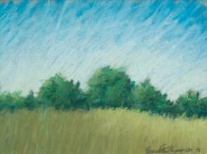 """Summer Field"", pastel, 10"" x 12"" © Bernadette E. Kazmarski"