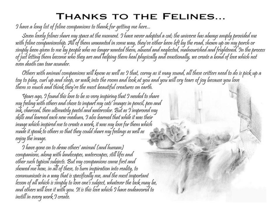 Thanks to my felines