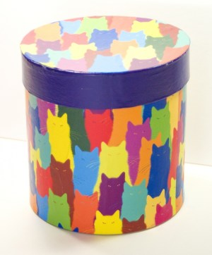 Keepsake box using Inscrutable Patterns paper.