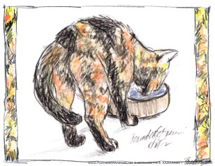 """Kelly Has a Drink placemat, 8.5"""" x 11 or 11"""" x 17"""""""