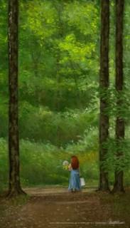 """Paths I Have Walked"", pastel, 16"" x 28"" © Bernadette E. Kazmarski"