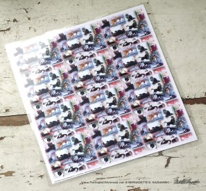 """""""22 Cats"""" 11 x 11 laminated placemat."""