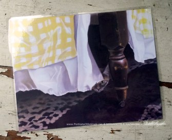 """""""Waiting for Mom"""" 11 x 14 laminated placemat."""
