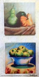 Two 8 x 8 canvas set.