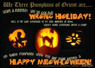 We Three Pumpkins