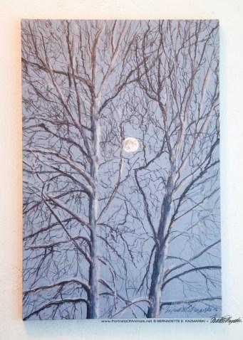 Sycamore Moon 12 x 18 canvas.