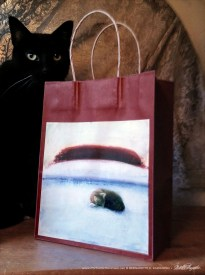 Afternoon Nap Winter Cats Gift Bag