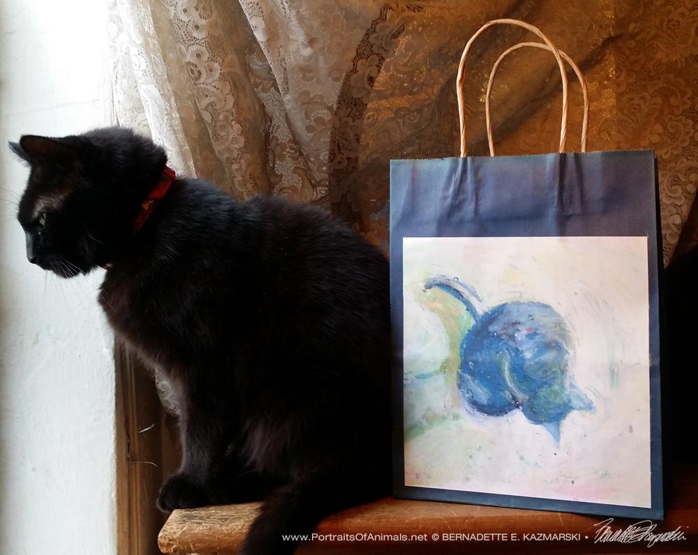 Cool Morning Bath Winter Cats Gift Bag