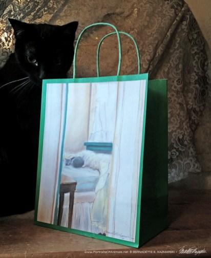 Sunday Morning Winter Cats Gift Bag