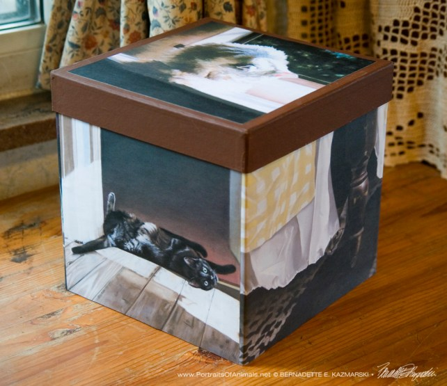 """Fine Art Cats"" keepsake box."