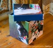 Impressionist Cats keepsake cube.