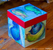 Cats After van Gogh Keepsake Cube, other side.