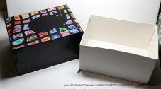 The gift box open.
