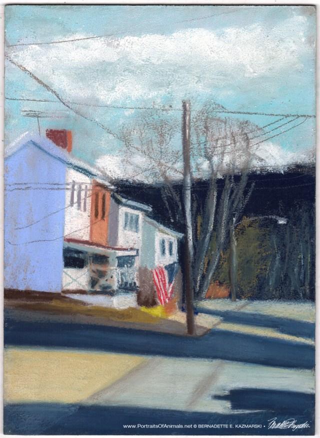 Dead End, pastel on prepared board, 8 x 12 © Bernadette E. Kazmarski