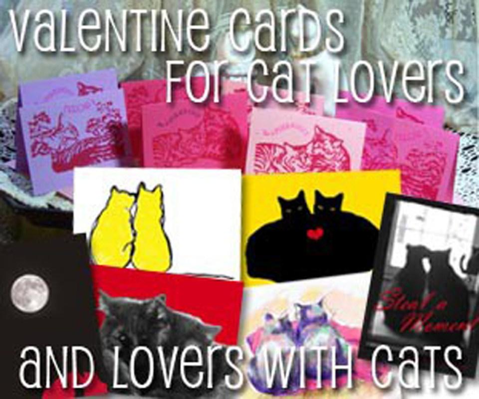 All sorts of feline-inspired valentines!