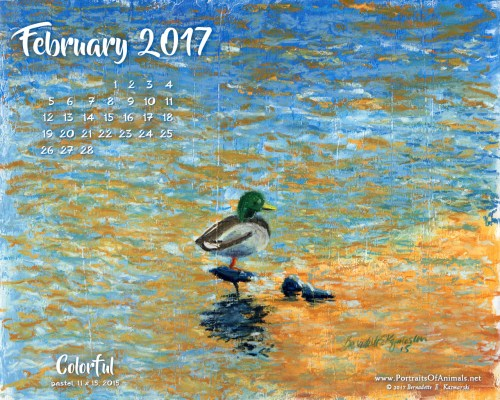 """Colorful"" desktop calendar, 1280 x 1024 for square and laptop monitors."