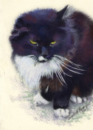 """Henry"", pastel on smooth cream cotton board, 5"" x 7"" © Bernadette E. Kazmarski"