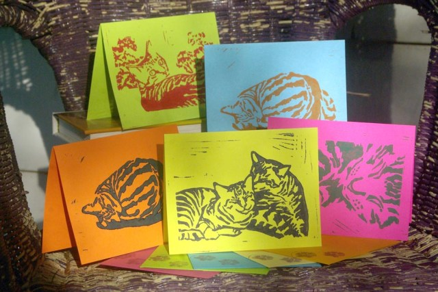 "Tabbies note cards, ""Brights""."