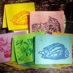"Tabbies note cards, ""Summery""."