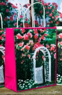 The Garden Gate Gift Bag, Magenta