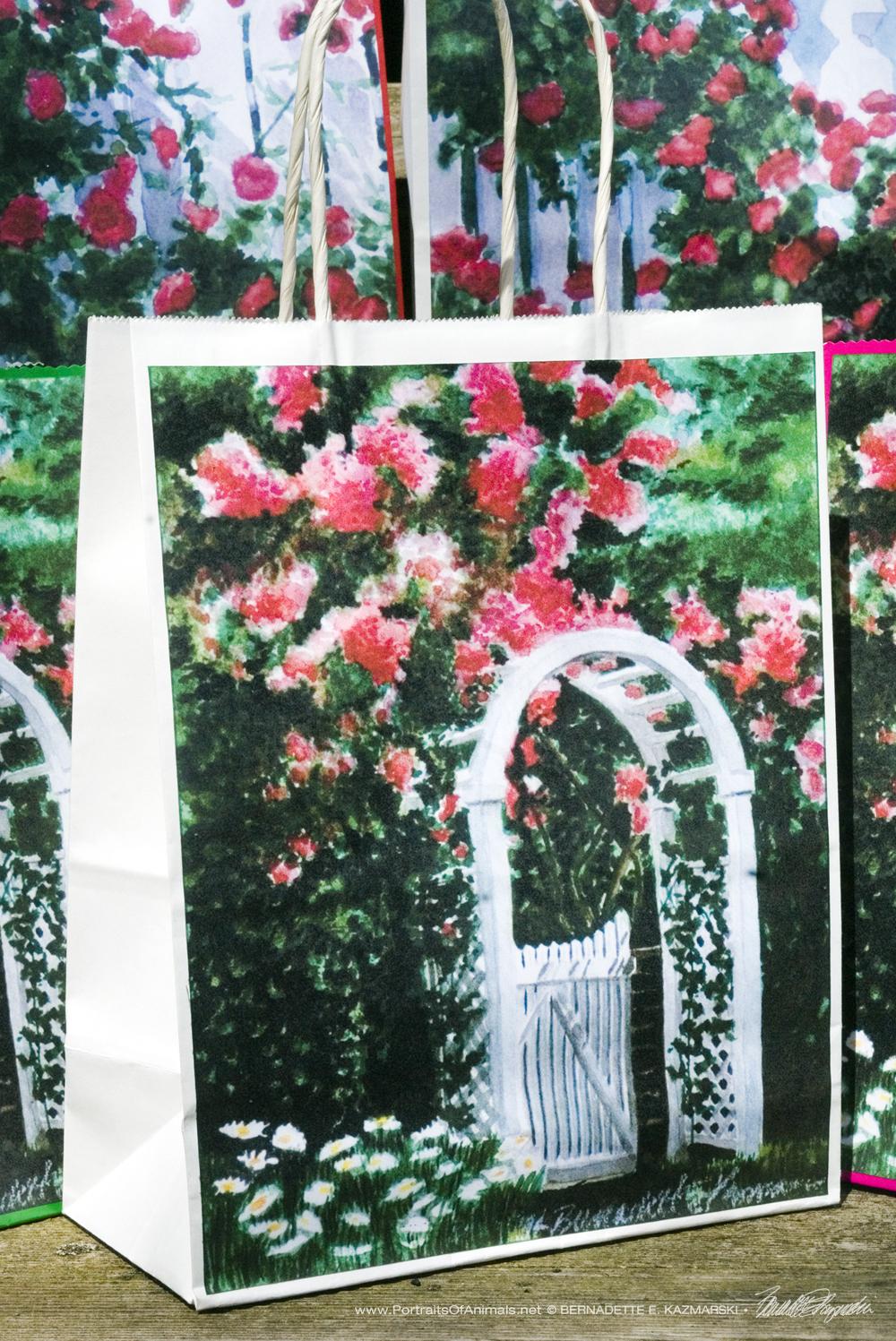 The Garden Gate Gift Bag, White