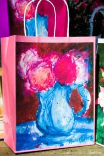 January Geraniums Gift Bag, Pink