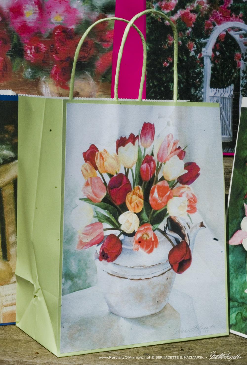 Tea for Tulips Gift Bag, Pale Green