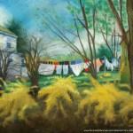 """Spring Cleaning"", pastel on self-prepared board, 14"" x 20"", 2006 © Bernadette E. Kazmarski"