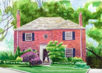 Michael's Second House, watercolor, 10 x 12, 2008.