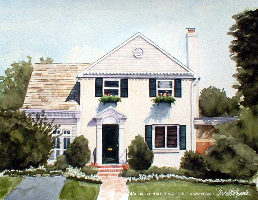 Michael's House, watercolor, 10 x 12, 2002.