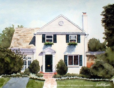 Michael's House, watercolor, 10 x 12, 2002.