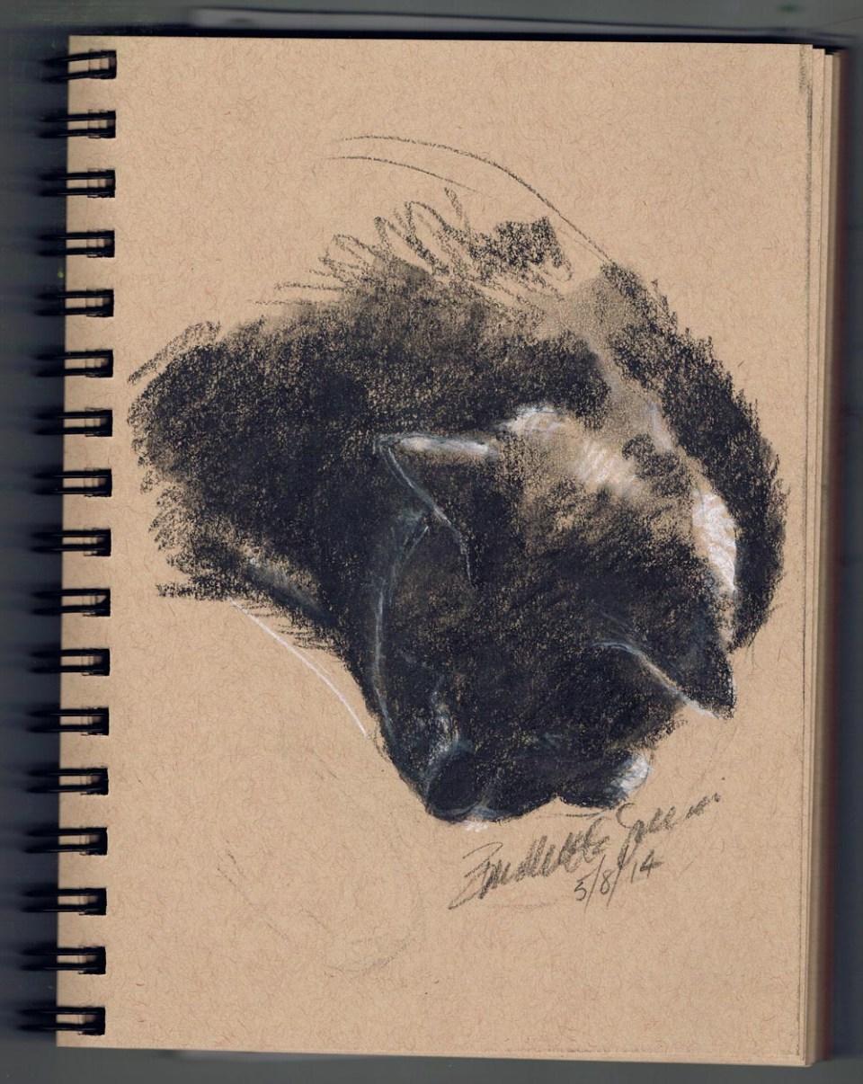 """Giuseppe Resting"", in the sketchbook."