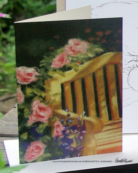 The Perfect Place fine art card from In the Garden.