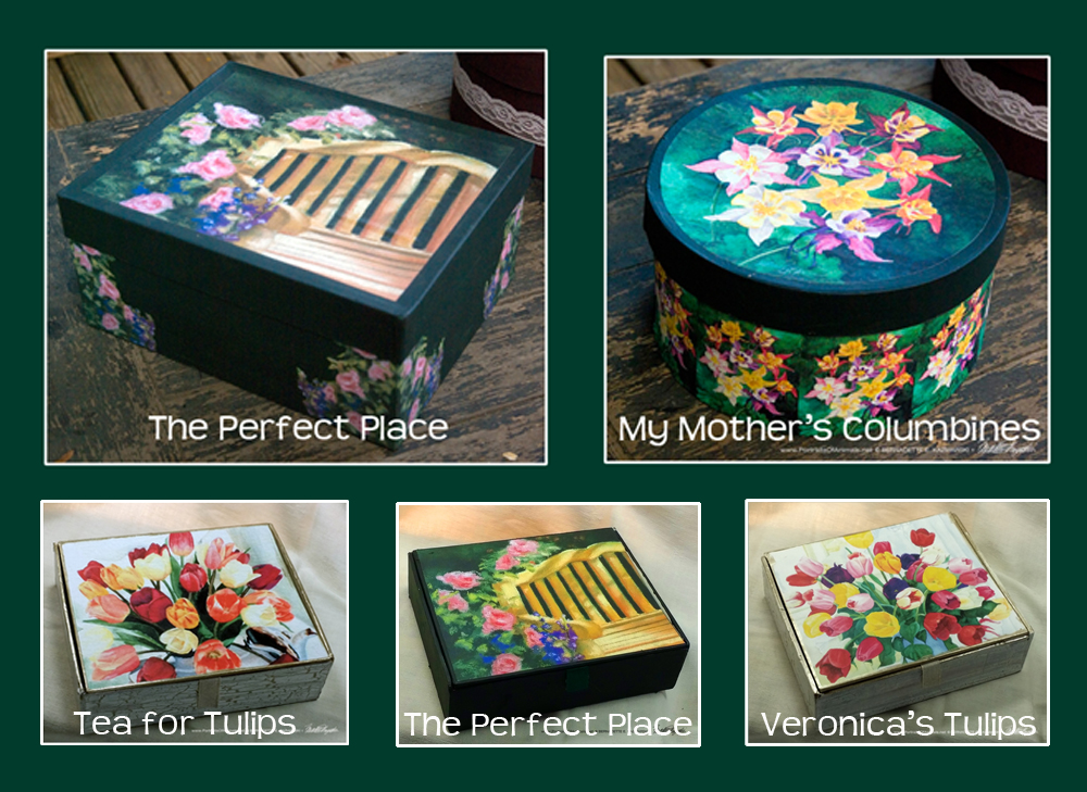 Flowery Keepsake Boxes