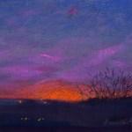 Coral Sunset, 8 x 12, pastel © Bernadette E. Kazmarski