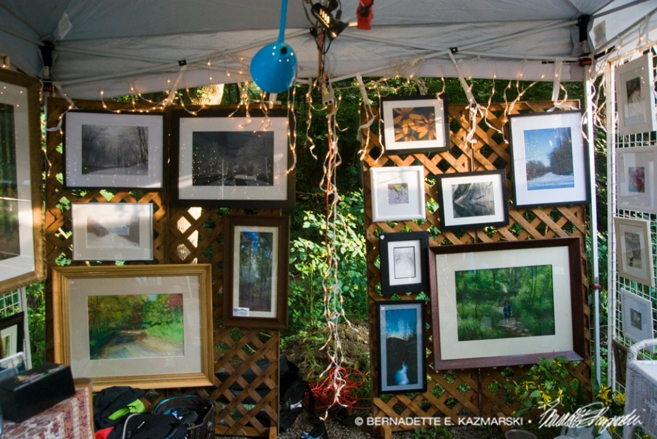 The artwalls in my display featuring photos with originals underneath.