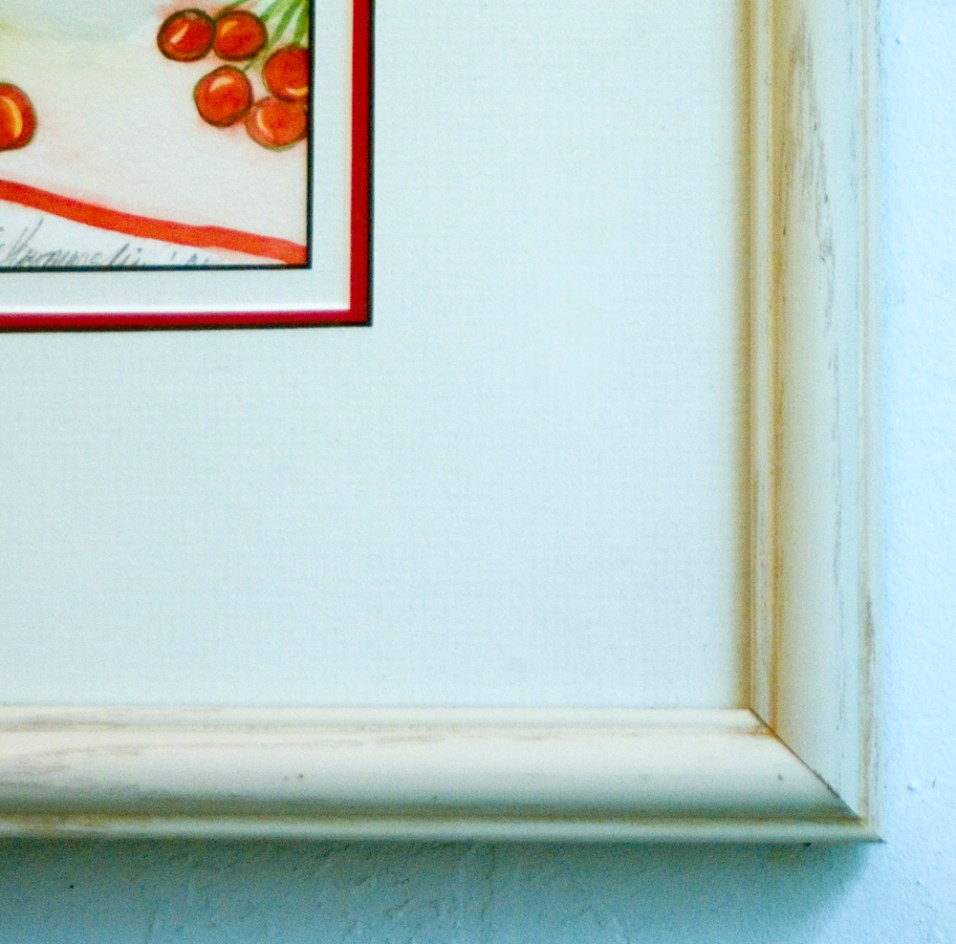 Detail of frame and mats.