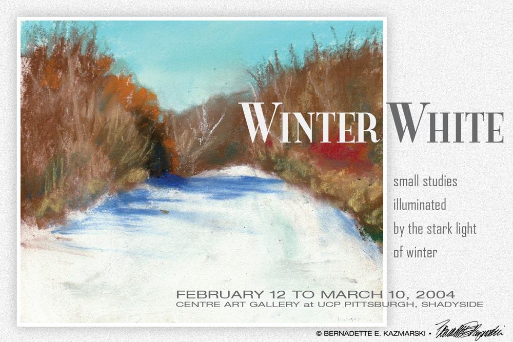 """Winter White"" post card."
