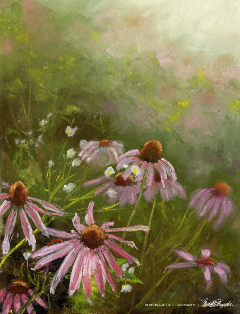 Evening Wildflowers, pastel, 10 x 14 © Bernadette E. Kazmarski