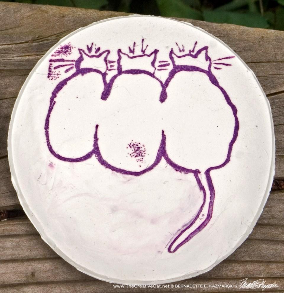 Three Cats Trinket Dish