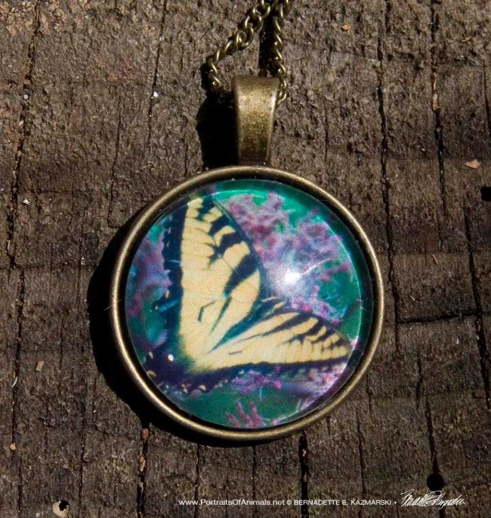 Cabochon Pendant, Tiger Swallowtail