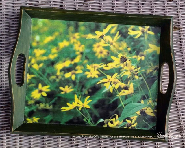 Woodland Sunflowers Tray