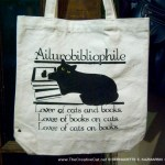 Ailurobibliophile bag closeup.